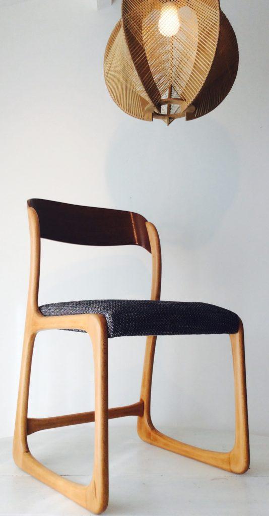 chaise baumman rénovée La Rochelle Tapisserie ameublement