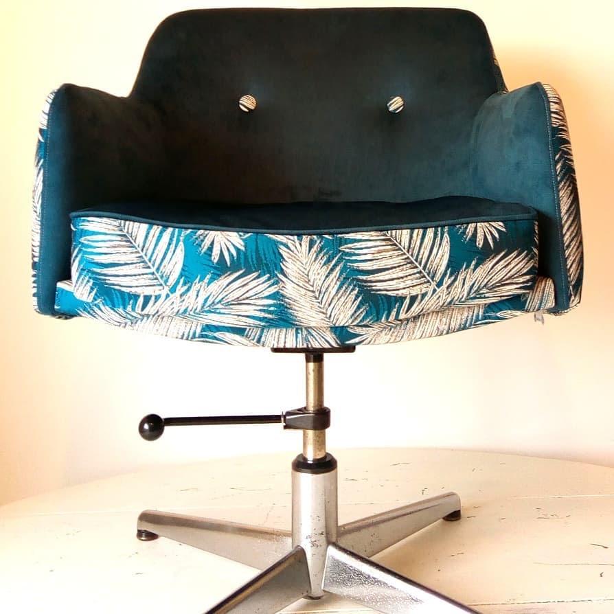 fauteuil bureau rénovée atelier Le Vieux Beau à la Rochelle
