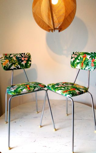 Paire de chaises Perroquet années 70
