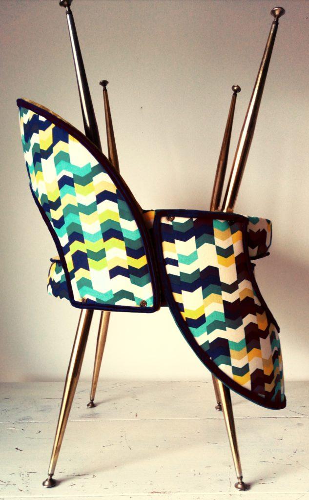 Paire de chaises Pelfran des années 60 entièrement restaurées par l'atelier Le Vieux Beau à la Rochelle