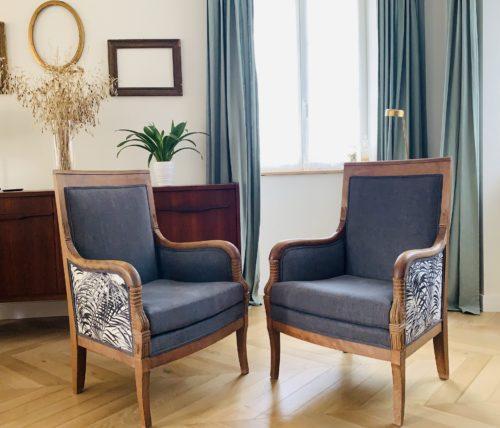 La paire de fauteuils de famille de Marie-Annick